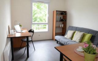 Photo T1 meublé et équipé en résidence étudiante à Nantes n° 3