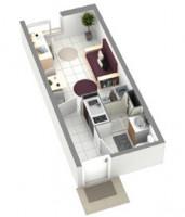 Photo T2 de 46m² meublé et équipé n° 3