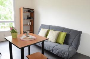 Photo T1 meublé et équipé en résidence étudiante à Nantes n° 4