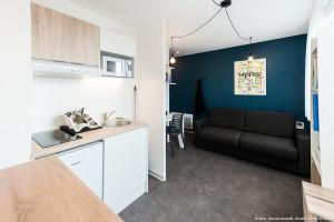 Photo T1 de 22 à 32 m² Meublé & neuf - Résidence étudiante Rennes n° 12