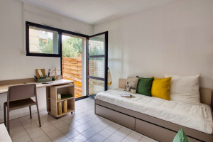 Photo T1 bis furnished 33m² in a student residence in Nîmes n° 24