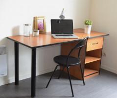 Photo T1 meublé et équipé en résidence étudiante à Nantes n° 1