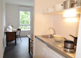 Photo T1 meublé et équipé en résidence étudiante à Nantes n° 9